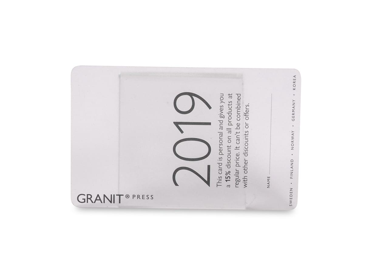 Plastkort Transparent/Frostad