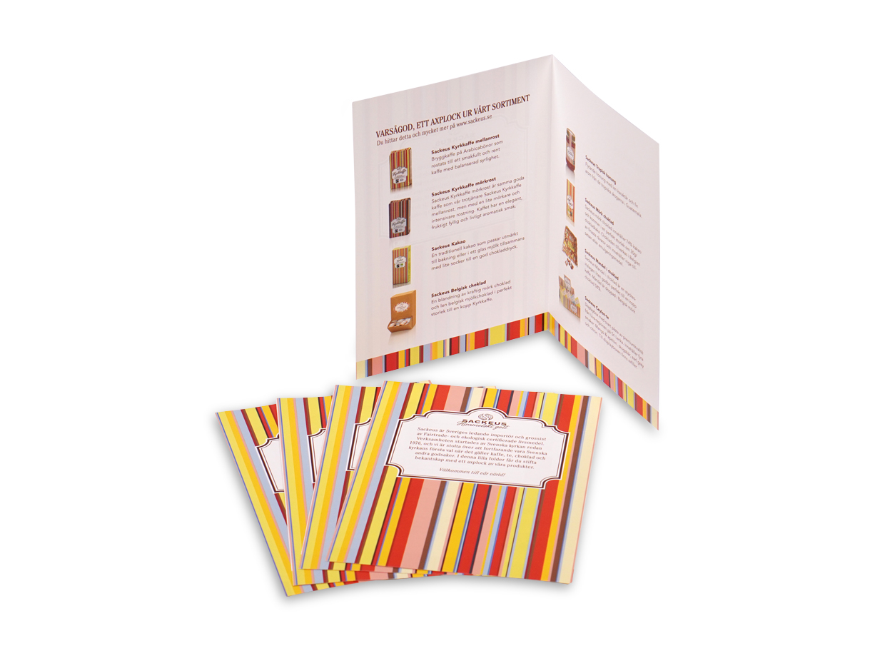 Folder 4-sidor A-format Digitaltryck