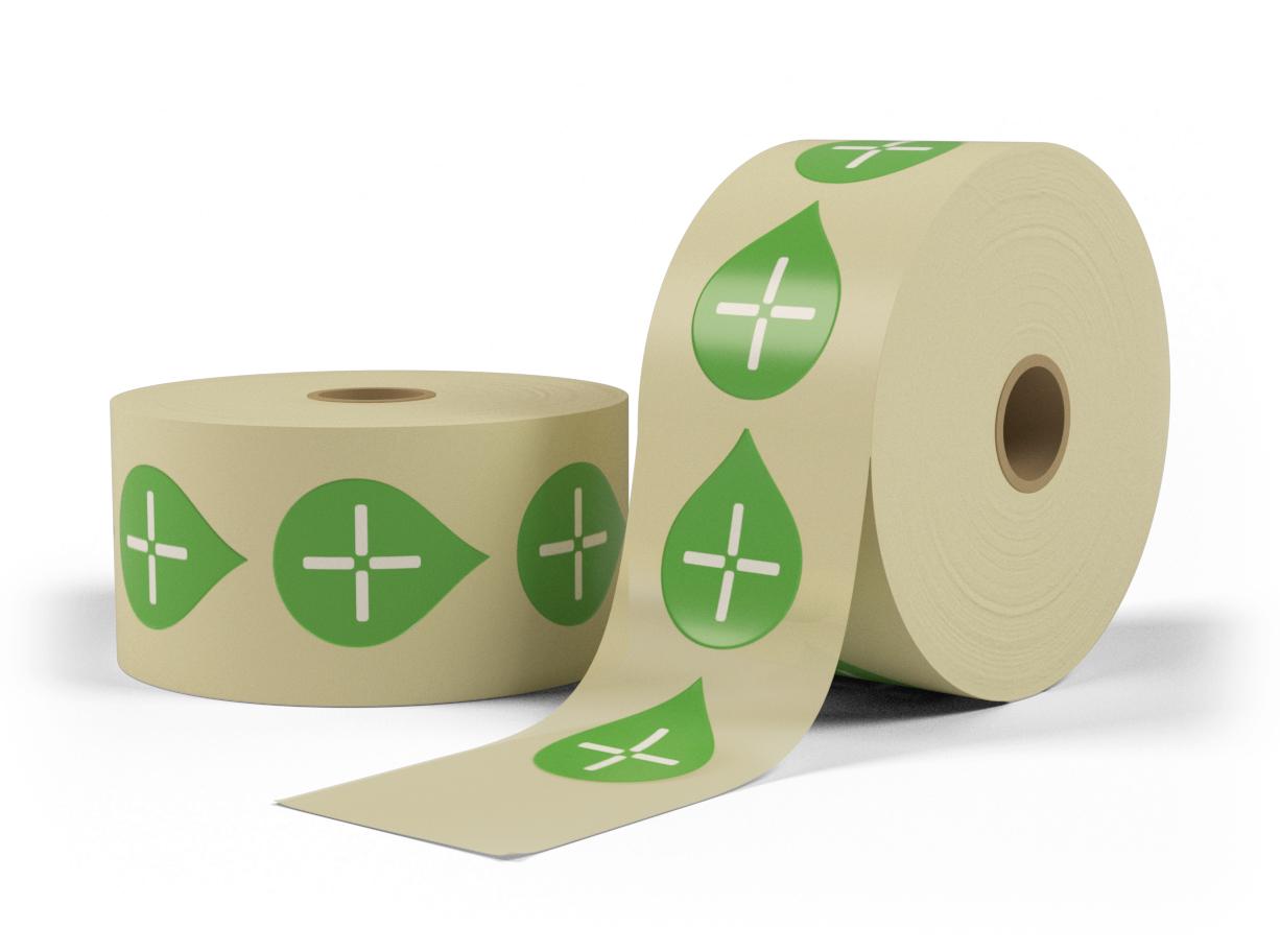 Stickers på rulle - Välj storlek
