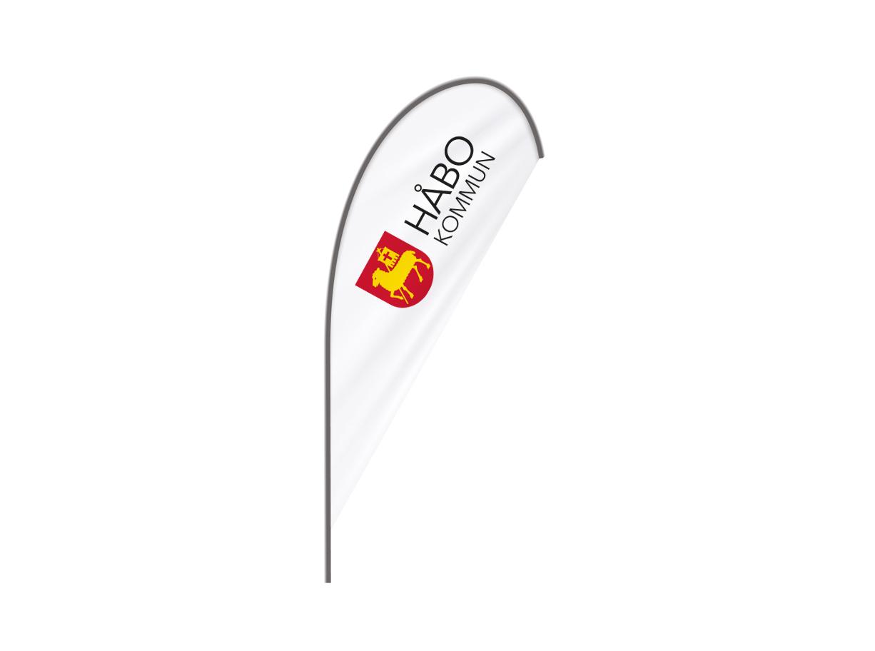 Beachflagga Aluminium - Droppe