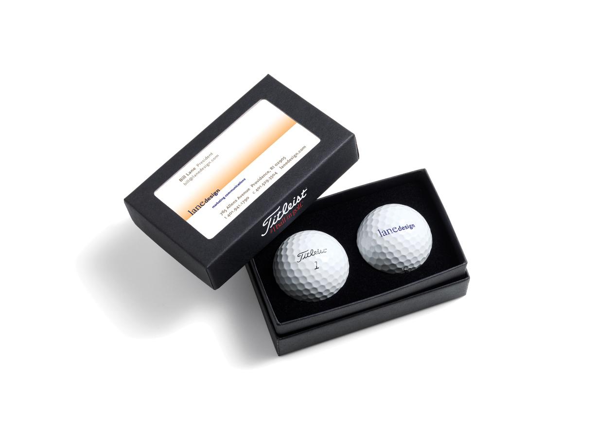 Golfbollar Presentask